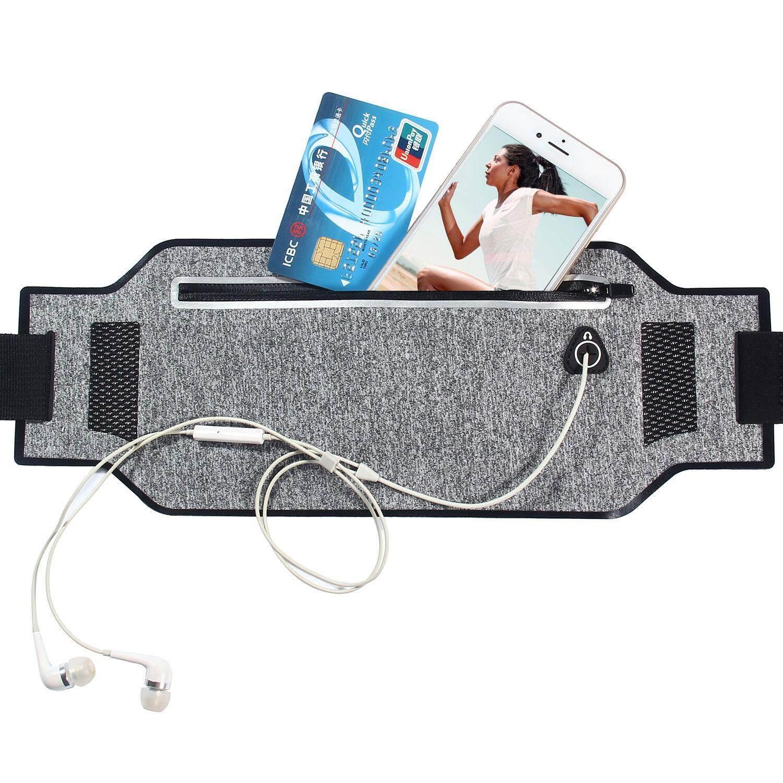 yugos Waist Pack Running Belt , Outdoor Sports Waist Bag Water Resistant Reflective Belt Ultra Slim