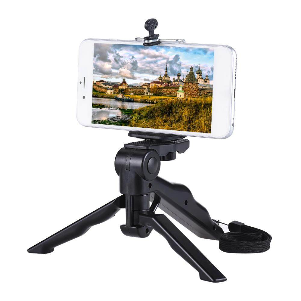Andoer Mini Tripod Stand Support Holder Hand Grip Stabilizer with Smartphone Clip Bracket for iPhone 7 Plus/7/6/6 Plus/6s/ for Samsung Galaxy S7/S6 - intl