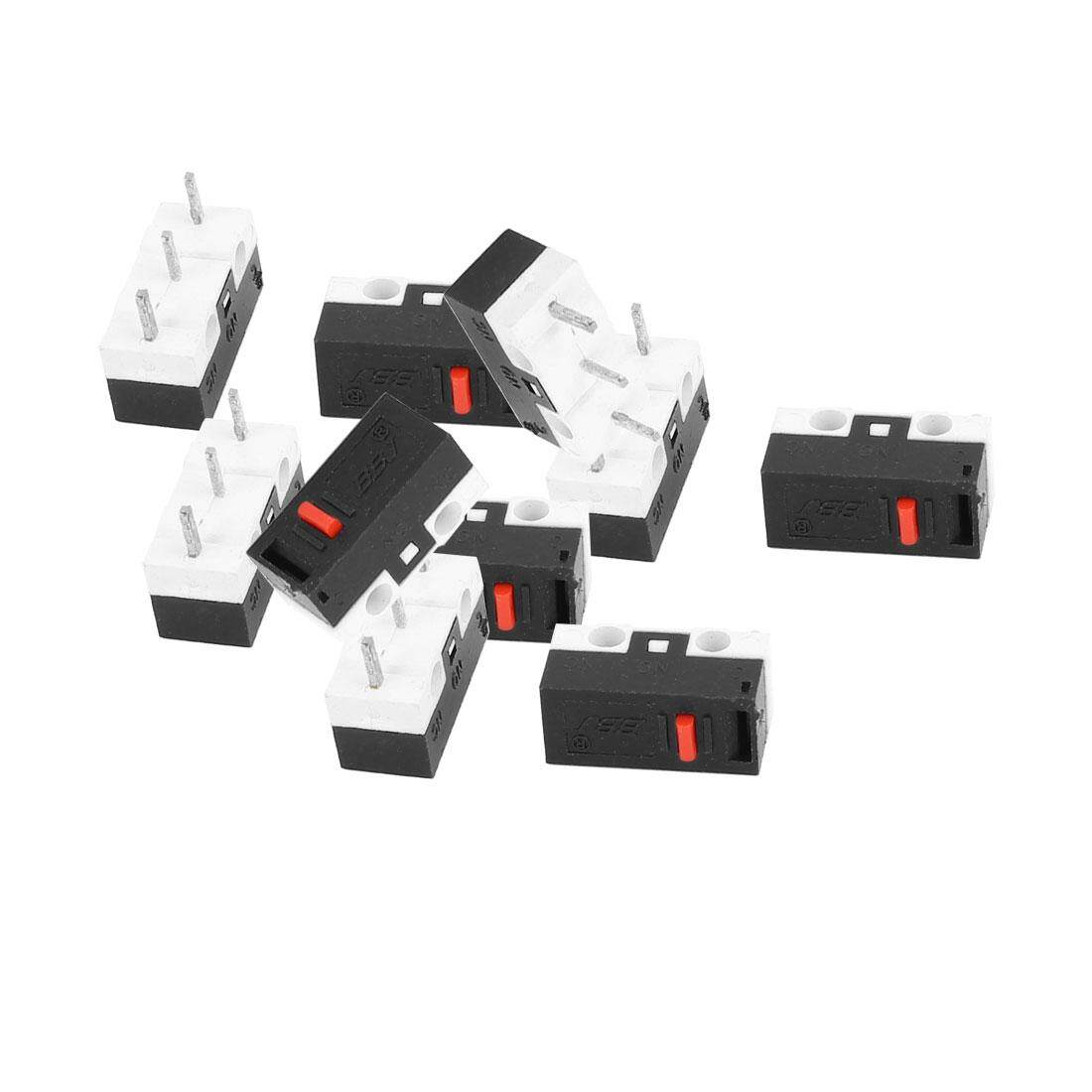 AXA 10 Pcs SPDT 2 Position Momentary Micro Limit Switch 2A 125VAC for Computer Mouse