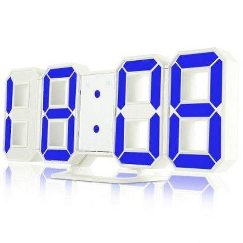 Led Digital Alarm Jam 24/12 Jam Tampilan Snooze Fungsi (biru) By Etop