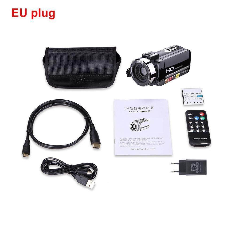 Fuan HDV-301STRM 1080 P Full HD 24MP Wifi Digital Kamera Video Camcorder dengan Mikrofon Eksternal 3.0