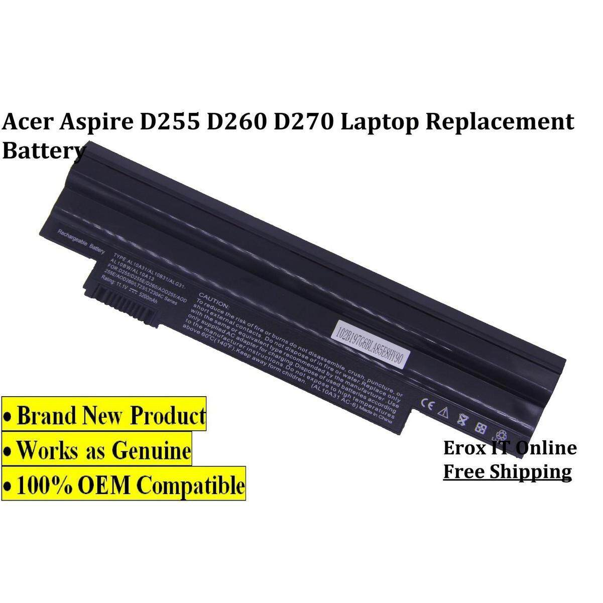REPLACEMENT LAPTOP BATTERY FOR ACER ASPIRE ONE HAPPY (BLACK) /Acer D255 Battery Malaysia