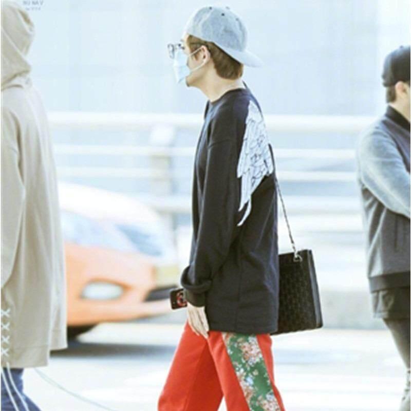 BTS Antipeluru Remaja Gaun Jin Taiheng Sayap Putih Sweater Wanita Hoodie Pria-Internasional - 2 ...
