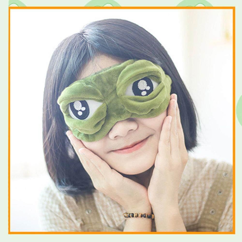 ของเล่นที่ยอดเยี่ยม 3d กบเศร้าผ้าปิดตา Sleep Soft Plush เบาะส่วนที่เหลือซึ่งปิดตากบเศร้าสีเขียว By Wonderful Toy.