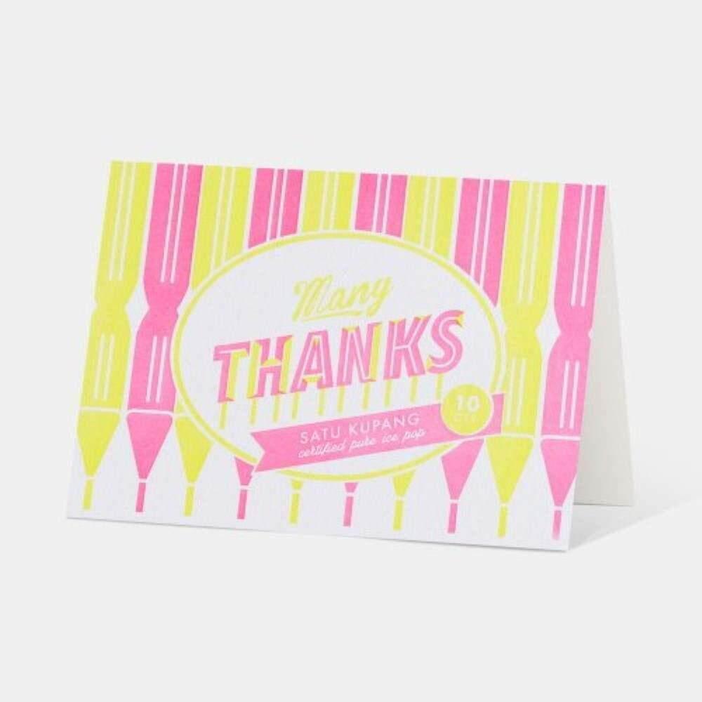 Letterpress Card - Many Thanks