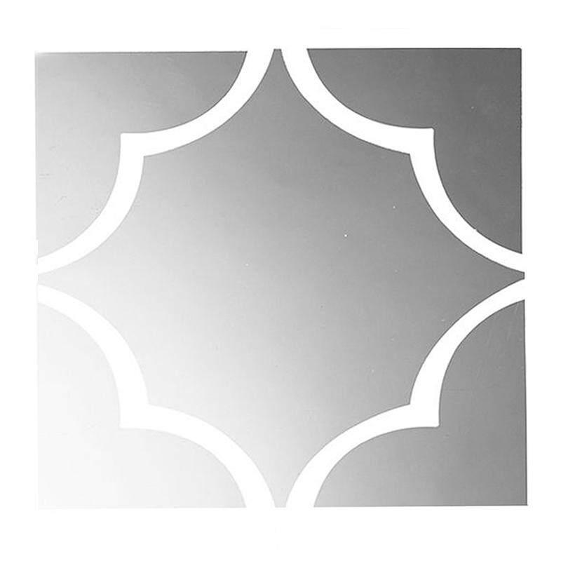 3D Modern Mirror Plum Blossom Wall Sticker Acrylic Removable Home Decor, Silver
