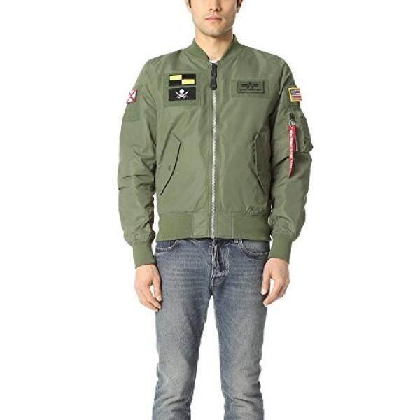 Alpha Industri Mens L-2b FLEX Jaket Bomber Pesawat, Sage-Intl