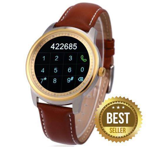 DM365 SMART WATCH FOR ANDROID 4.3 / IOS 7.0 BLUETOOTH 4.0 ANTI-LOST CALLS FUNCTION PEDOMETER (GOLDEN)
