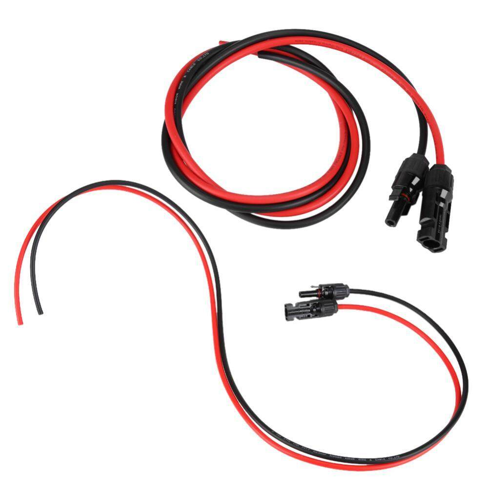Features 2 5mm Pair Of Red Black Solar Panel Pv Cable Wire Male Wiring 25mm Amp