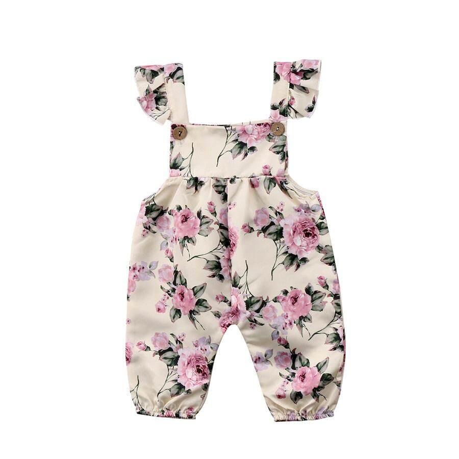 Manis Baru Lahir Bayi Anak Perempuan Musim Panas Bunga Romper Jumpsuit Playsuit Pakaian Pakaian-Internasional ...
