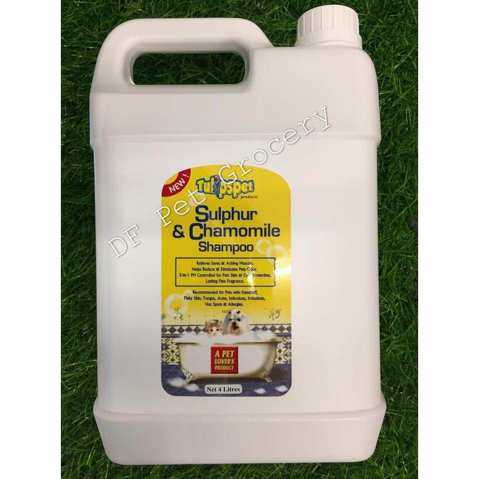 Tulipspet Sulphur & Chamomile 4L Shampoo For Dog & Cat