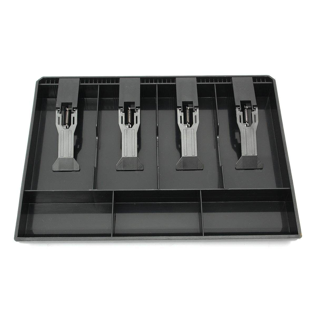 Cash Coin Register Replacement Money Drawer Storage Box With 4 Bill 3 Coin Trays Black By Moonbeam.
