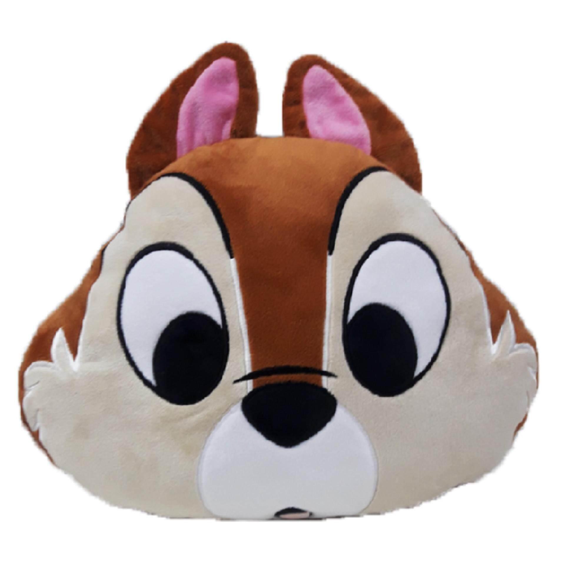 Disney Chip Face Cushion - Brown Colour