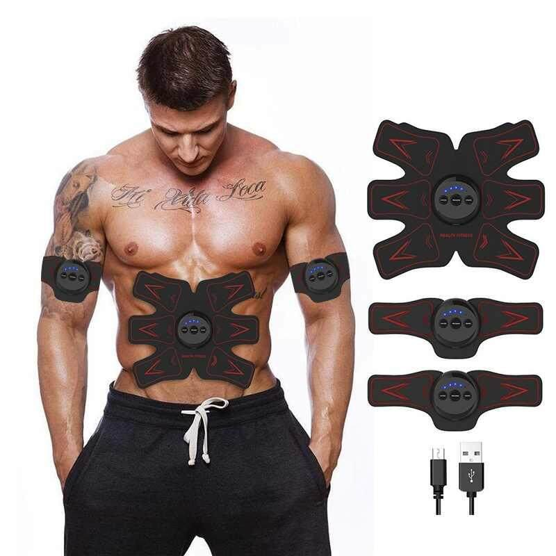 Deals For Burstore Wolfyok Abdominal Muscle Toner Usb Rechargable Abs Toning Belt Abdominal Body Muscle Fitness Trainer Gear For Abdomen Arm Leg Training Men Women Intl