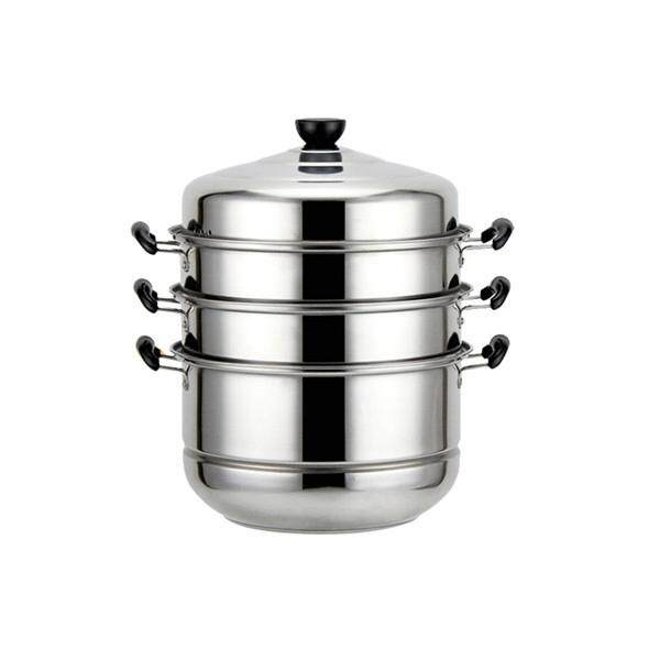 Stainless Steel 4 Tier Steamer Cooking Food Stock Steam Pot Cookware 32cm/12.6 By Glimmer.