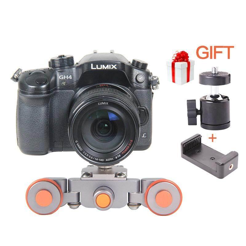 Kerek Pengangkut Video Mobil Kamera Bermotor Track Skater Geser untuk YouTube Smartphone Nikon Untuk Canon DSLR