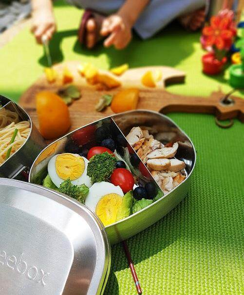 Beebox Classic FLEXI Stainless Steel Bento Lunch Box Classic Series