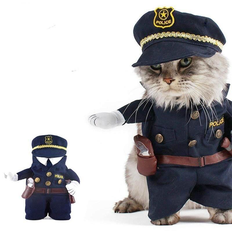 ... Hewan Peliharaan Kucing Anjing Kostum Polisi Jeans Anjing Pakaian Lucu Apperal M-3 - 3 ...