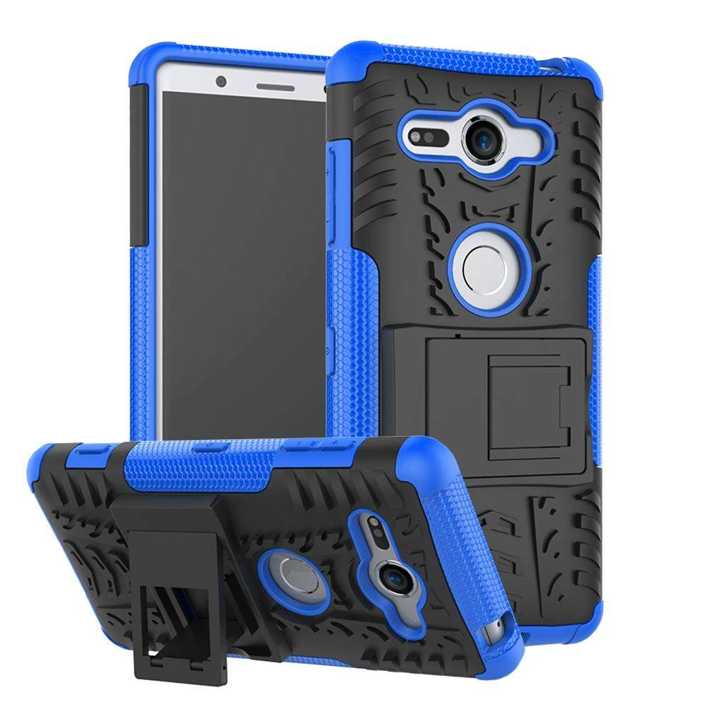 Sony Xperia XZ2 Compact Casing, Hicase Detachable 2 in 1 Shockproof Tough Rugged Dual-Layer Case Cover for Sony Xperia XZ2 Compact - intl