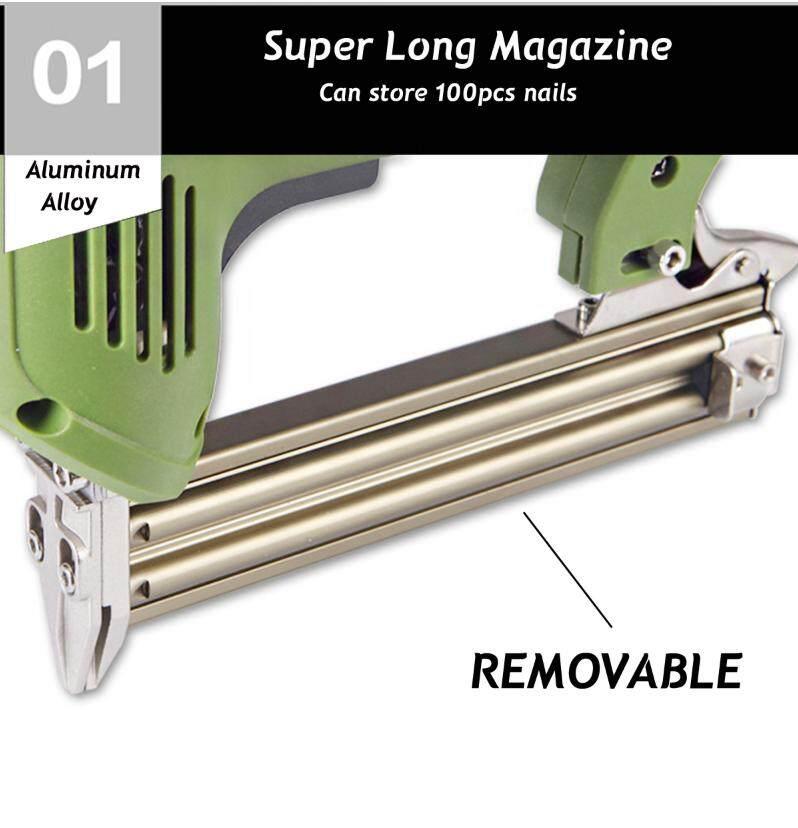 1800W Electric Staple Straight Nail Gun 30/min Woodworking Tool 220V