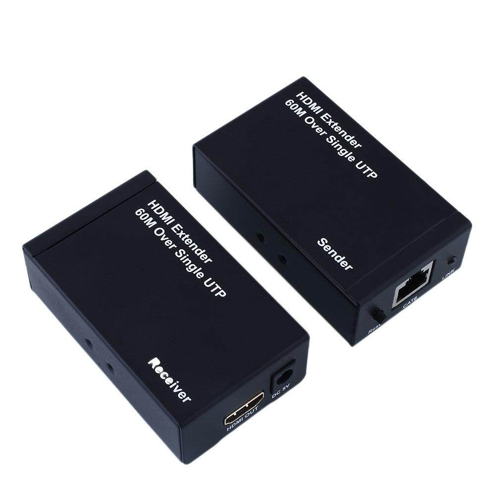 Oscar Store (Clearance Sale) HDMI Extender 60m 196ft Over Single UTP CAT6 3D&1080P Full HD +2Adapter