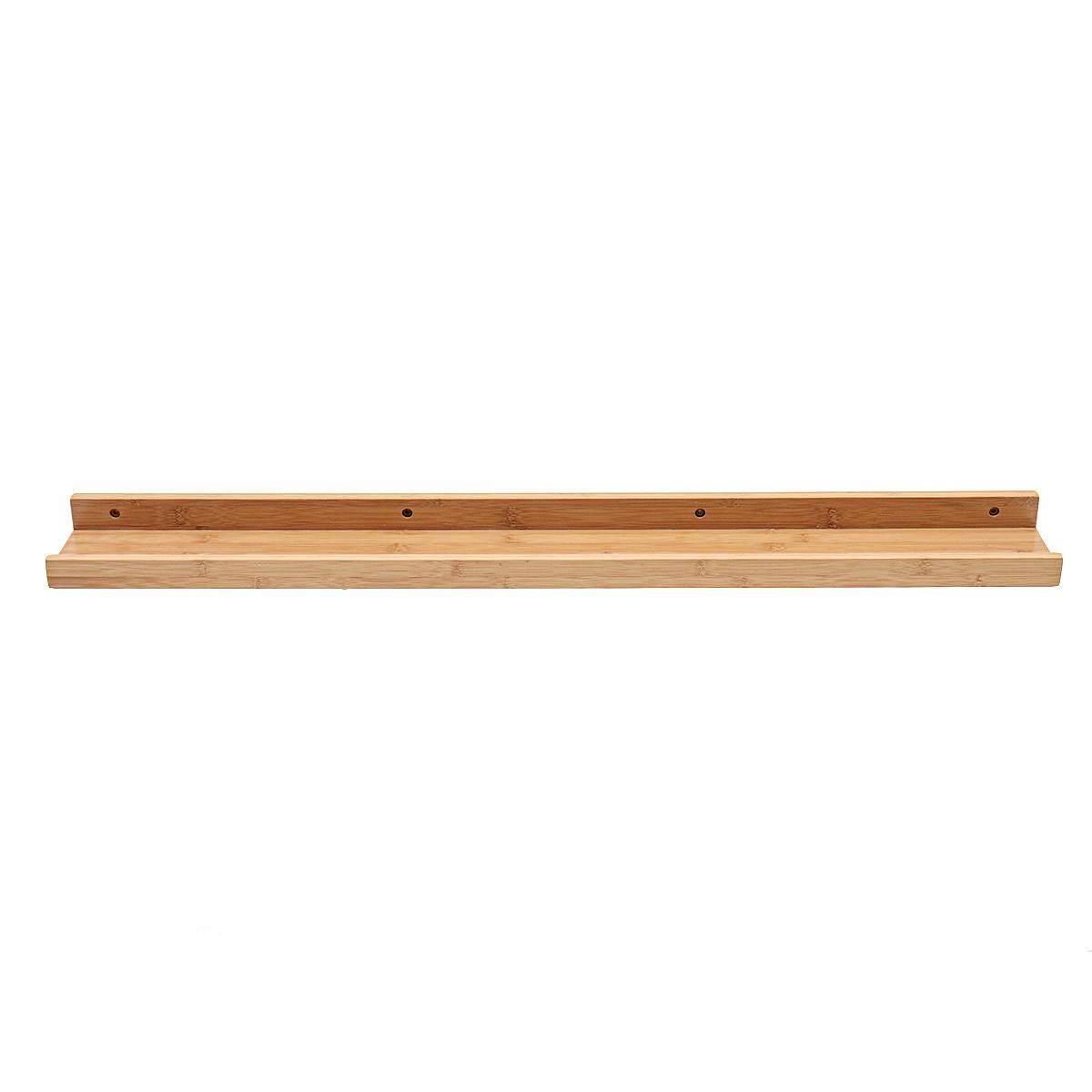 Vintage Retro Bamboo Wooden Wall Floating Shelf Storage Shelving Unit[ 95*12*5cm] - intl