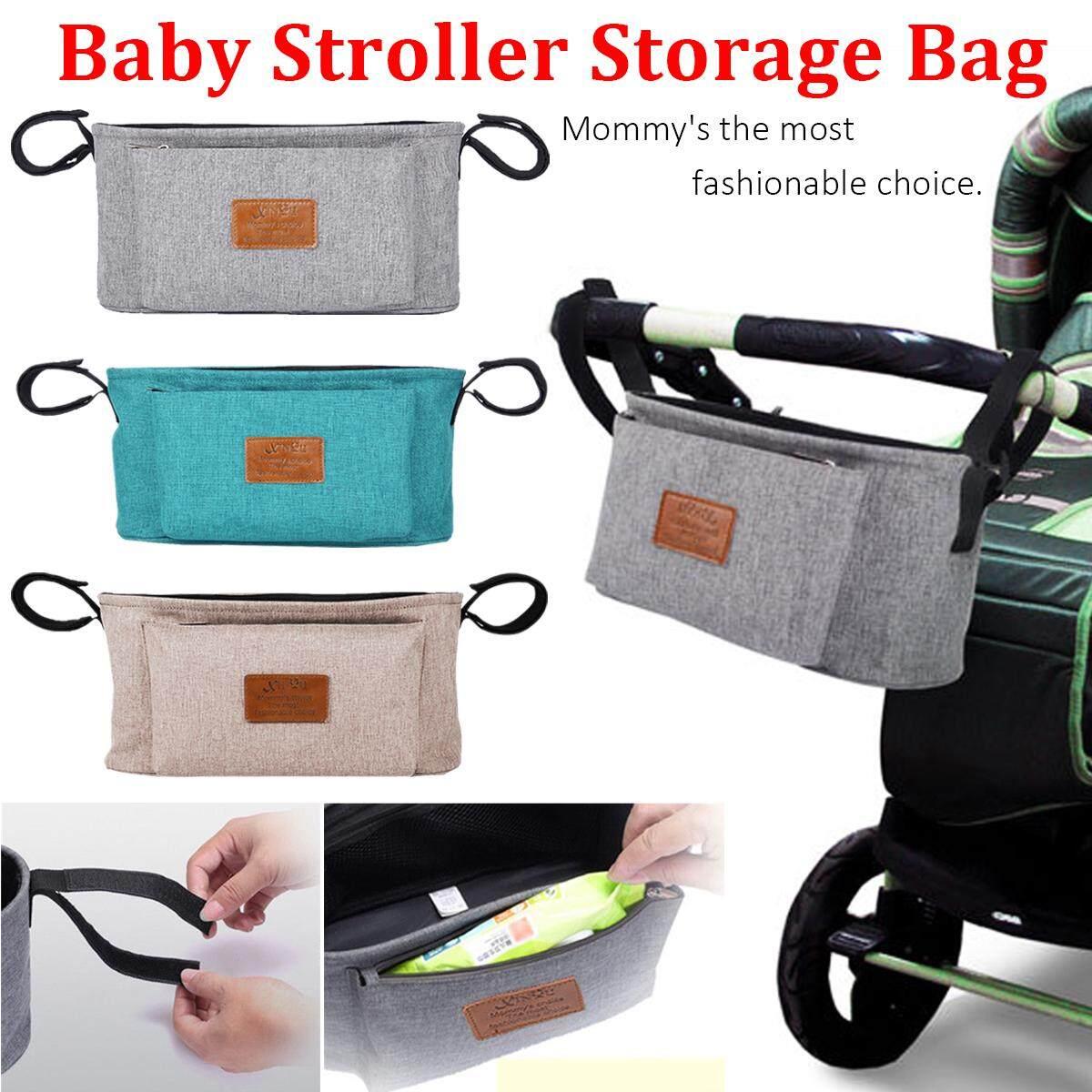 Cek Harga Baru Bayi Kereta Dorong Perjalanan Organizer Stroller Storage Tempat Penyimpanan Anak Tas Botol Pemegang Popok Langit Biru