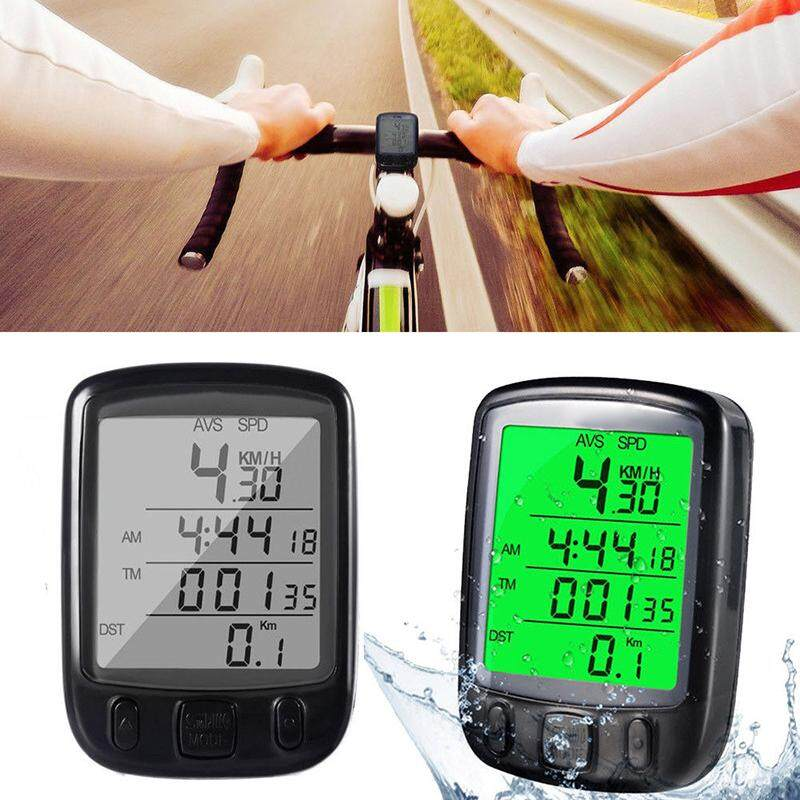 beautymaker Waterproof LCD Backlight Cycle Bicycle Bike Computer Odometer Speedometer