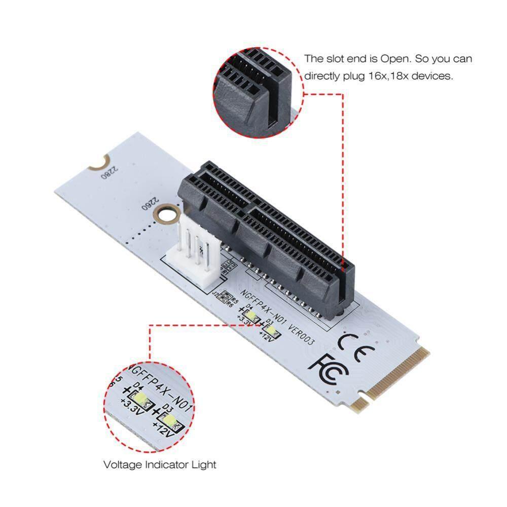 Justgogo NGFF M.2 Kunci M Ke Pci-e Express 4X Riser Kartu Adaptor