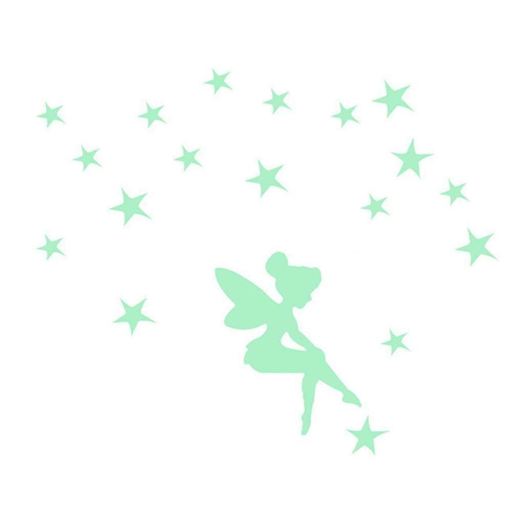 yedatun Glow In The Dark Stars Wall Stickers, FairyStars Luminous Power Switch Reminder Decals Cartoon Kid Bedroom Home Decor On The Wall
