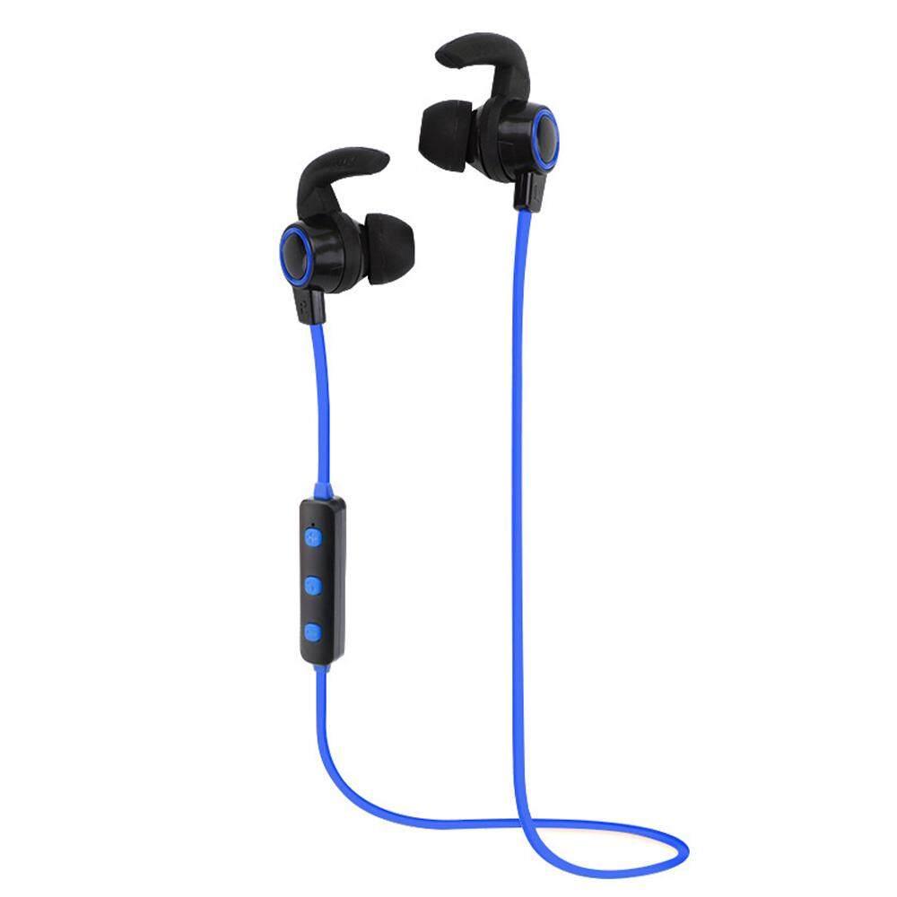 H6 Bisnis Olahraga Earphone Dalam-Telinga Nirkabel Stereo BT4.1 Lari Headphone Headset Bebas Genggam Pasang/Mati/On Menerima /Gantung Bermain Musik/Jeda Volume +/-untuk iPhone X Samsung S8 + Note8-Internasional
