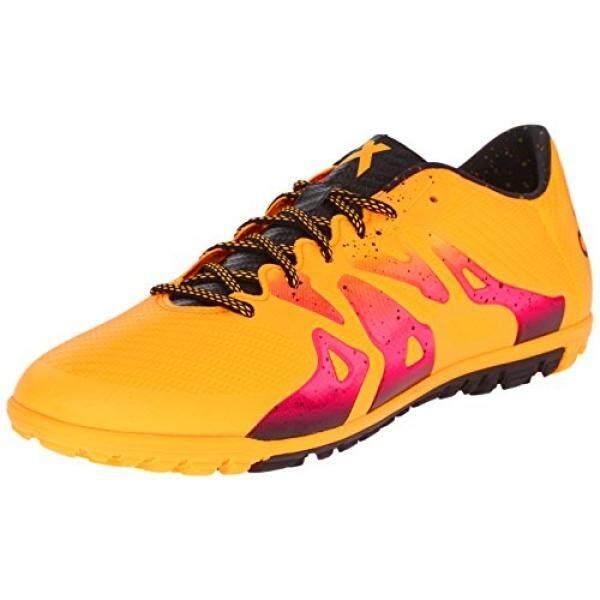 Adidas Performa Pria X 15.3 TF Sepak Bola Shoe, Emas/Hitam/Guncangan Merah Muda, 10 M Kami-Internasional