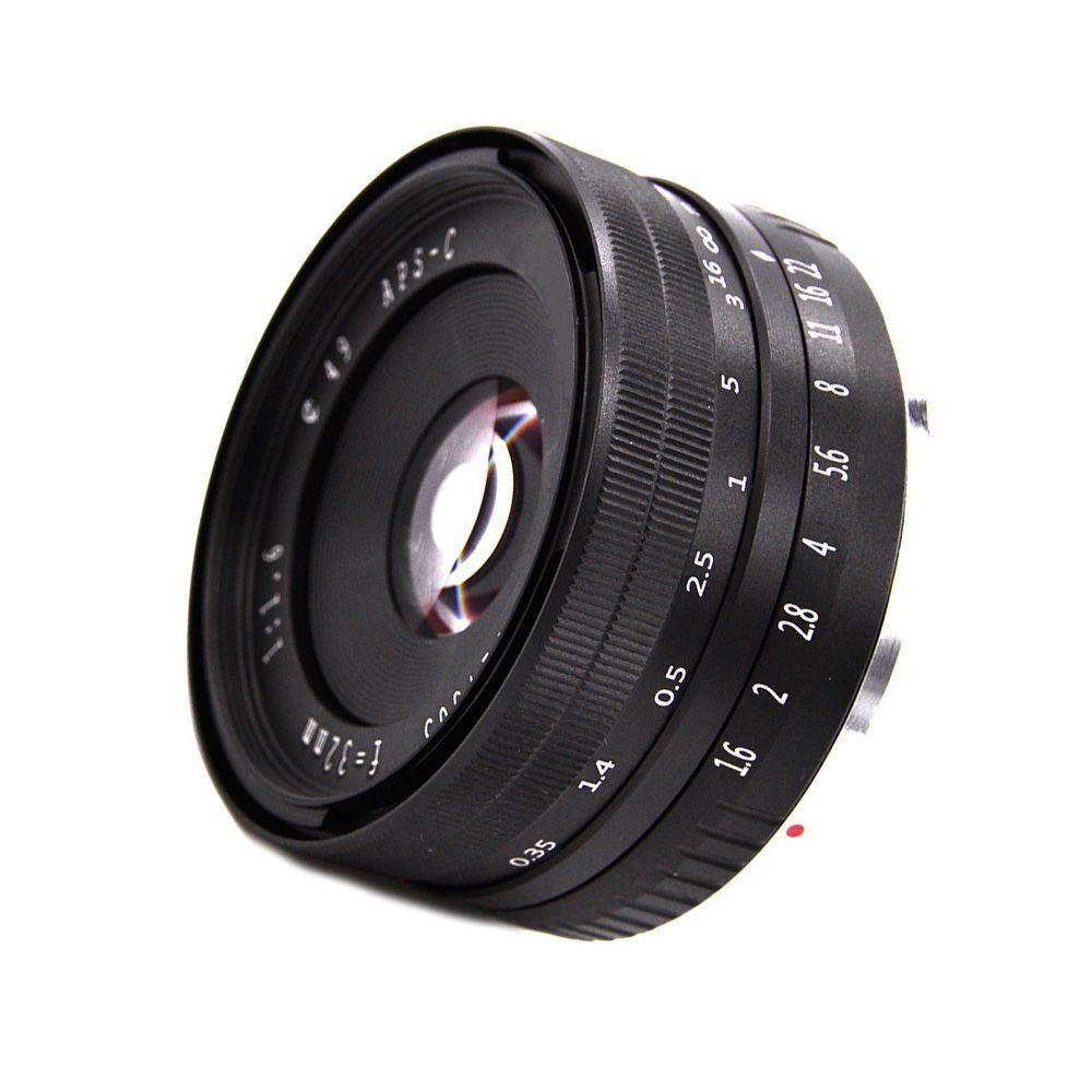 Dsan Aperture Besar Manual Perdana Fixed Lensa untuk Sony APS-C Kamera Mirrorless