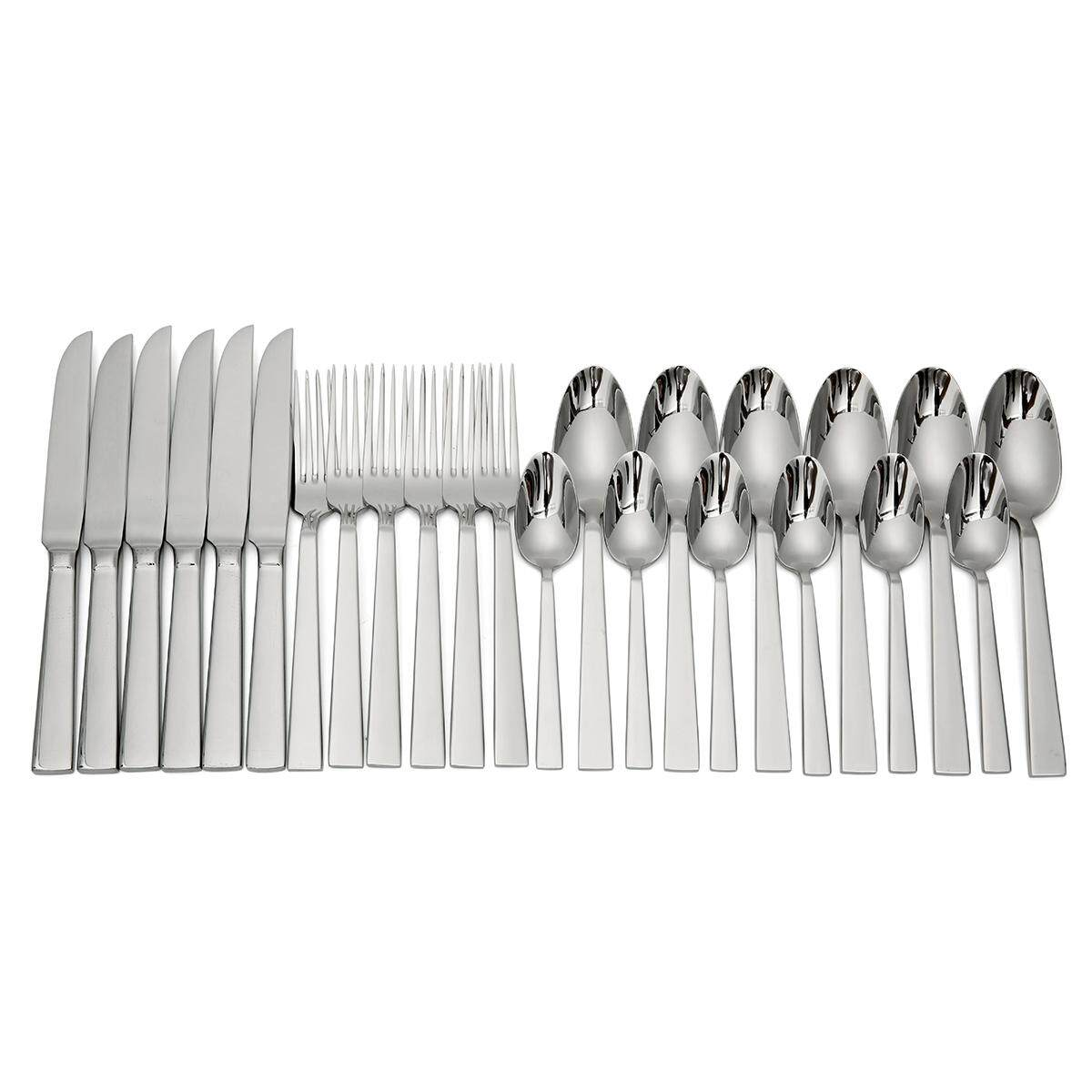 24pcs/set Stainless Steel Steak Knifes Dinner Forks Tea Spoons Flatware Set High-End Dinnerware Set New Arrival - Intl By Audew.