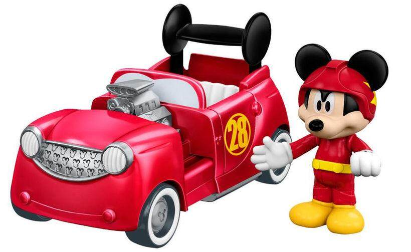 [Mickey & Minnie] Disney Mickey and The Roadster Racers 2-in-1 Vehicle & Figure Assortment Toys for boys