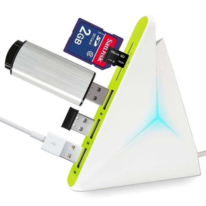 Bảng giá xinfu USB 3.0 Hub HIGH SPEED USB Charger 4-Port - Data Hub With Colorful LEDs And Long Cord 35 Inch (White+Green) - intl Phong Vũ