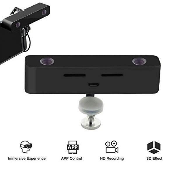 [หูฟัง Vr] Svpro Vr 3d ภาพสมาร์ทโฟนวิดีโอกล้องเลนส์คู่พร้อมเคสอลูมิเนียมสำหรับ Samsung โทรศัพท์มือถือ Galaxy S5/6/ 7 3d กล้องวีดีโอผ่าน Vr Displayer (สีดำ) - Intl.