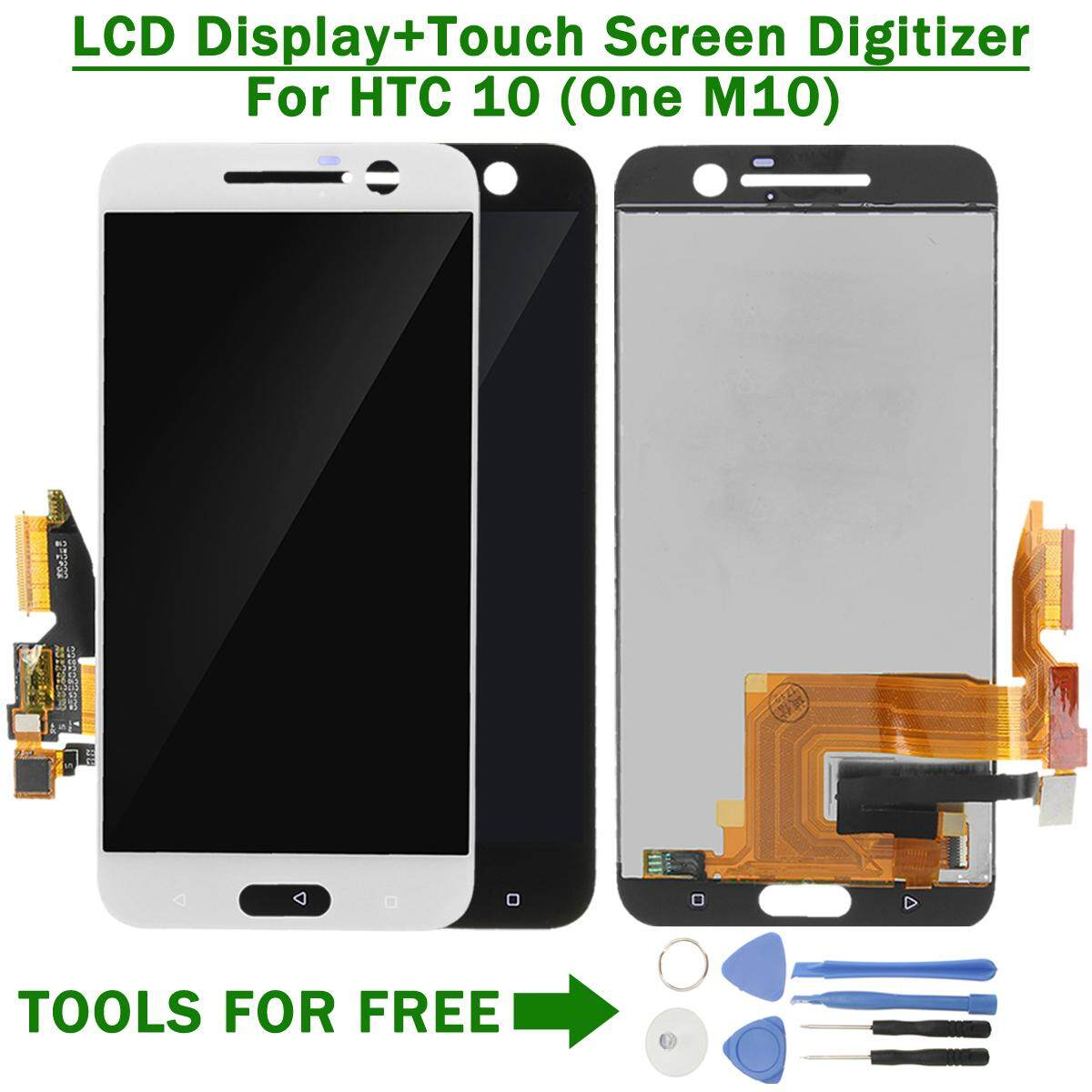 Original LCD Display Screen Digitizer Replacement For HTC 10 (One M10) White - intl