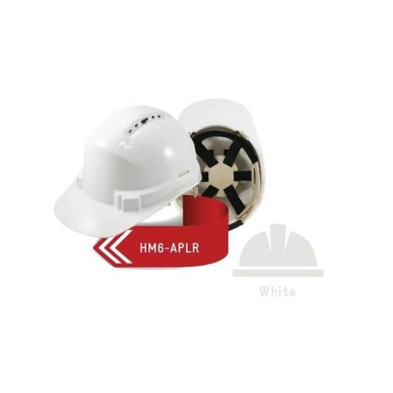 ISAF Industrial Safety Helmet c/w Ratchet Lock, Sweatband & Chinstrap - White