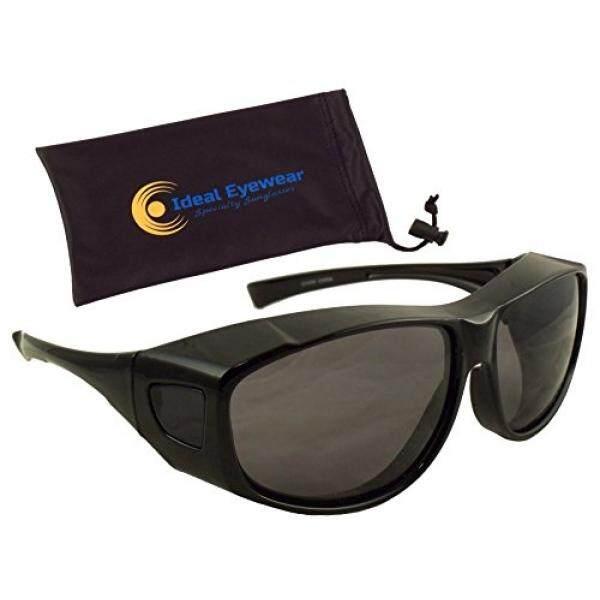 Matahari Perisai Sesuai Lebih Kacamata Hitam dengan Lensa Terpolarisasi Oleh Kacamata Ideal Pakaian Resep Kacamata-Bungkus Sekitar- bagus untuk Memancing, berperahu, Golf, & Mengemudi-Internasional