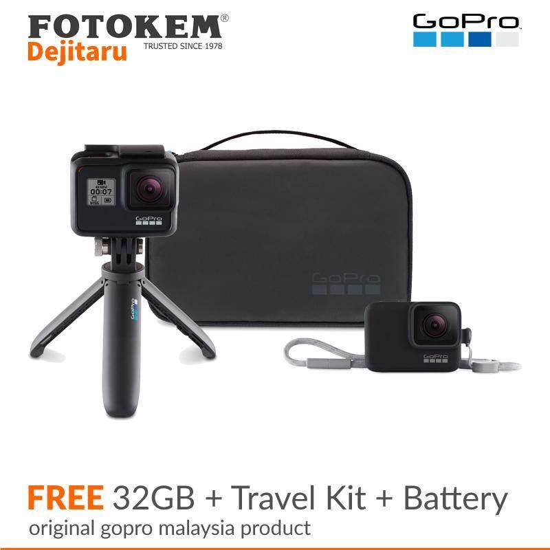 GoPro Hero 7 Black CHDHX-701RW + 32GB + Travel Kit + Battery (Funsportz Malaysia Warranty)
