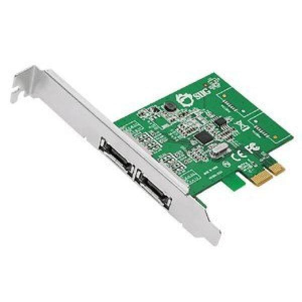 SIIG DP eSATA 6Gb/s 2-Port PCIe Dual Profile PCI Express 2-Port eSATA 6Gb/s Host Adapter (SC-SA0M11-S1) - intl