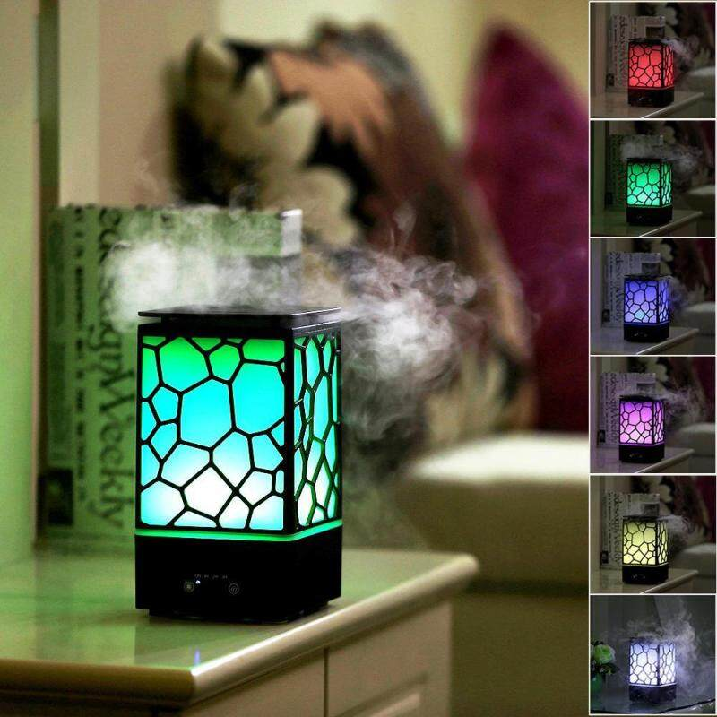 fehiba Aroma Diffuser Humidifier, Chinese Water Cube 200ml Aromatherapy Aroma Diffuser, Cool Mist Humidifiers With Auto-Shut-Off 7 Color LED Light For Home, Yoga, Office, Spa, Bedroom, Baby Room - intl Singapore