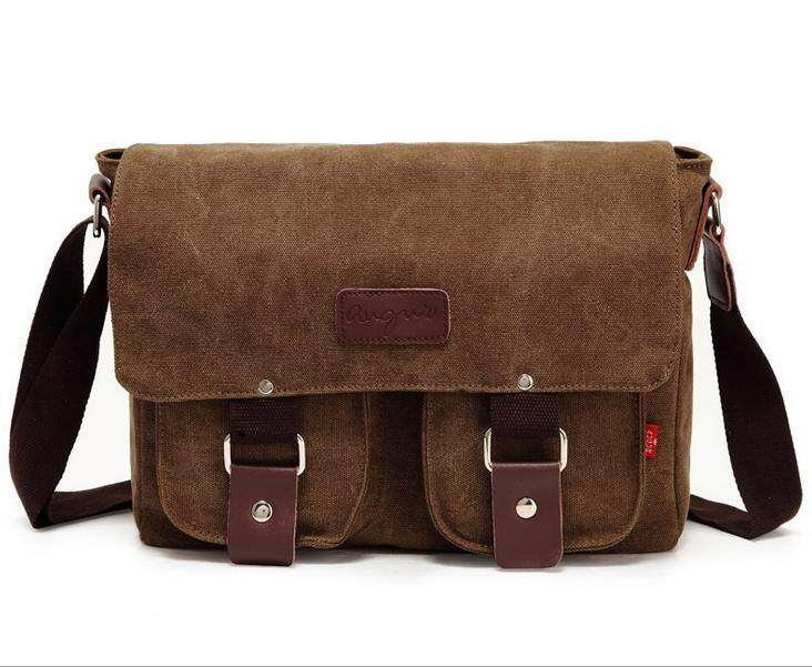 The new casual bagCanvas bag retro Messenger bag men s canvas shoulder bag  student leisure bag( 8f0246d65c