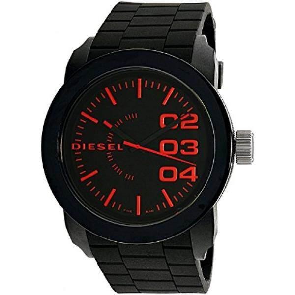 น่าน ดีเซลบุรุษคู่ลงควอตซ์สเตนเลสสตีลและนาฬิกาซิลิโคนแบบลำลอง  สี: ดำ (รุ่น: DZ1777) - นานาชาติ