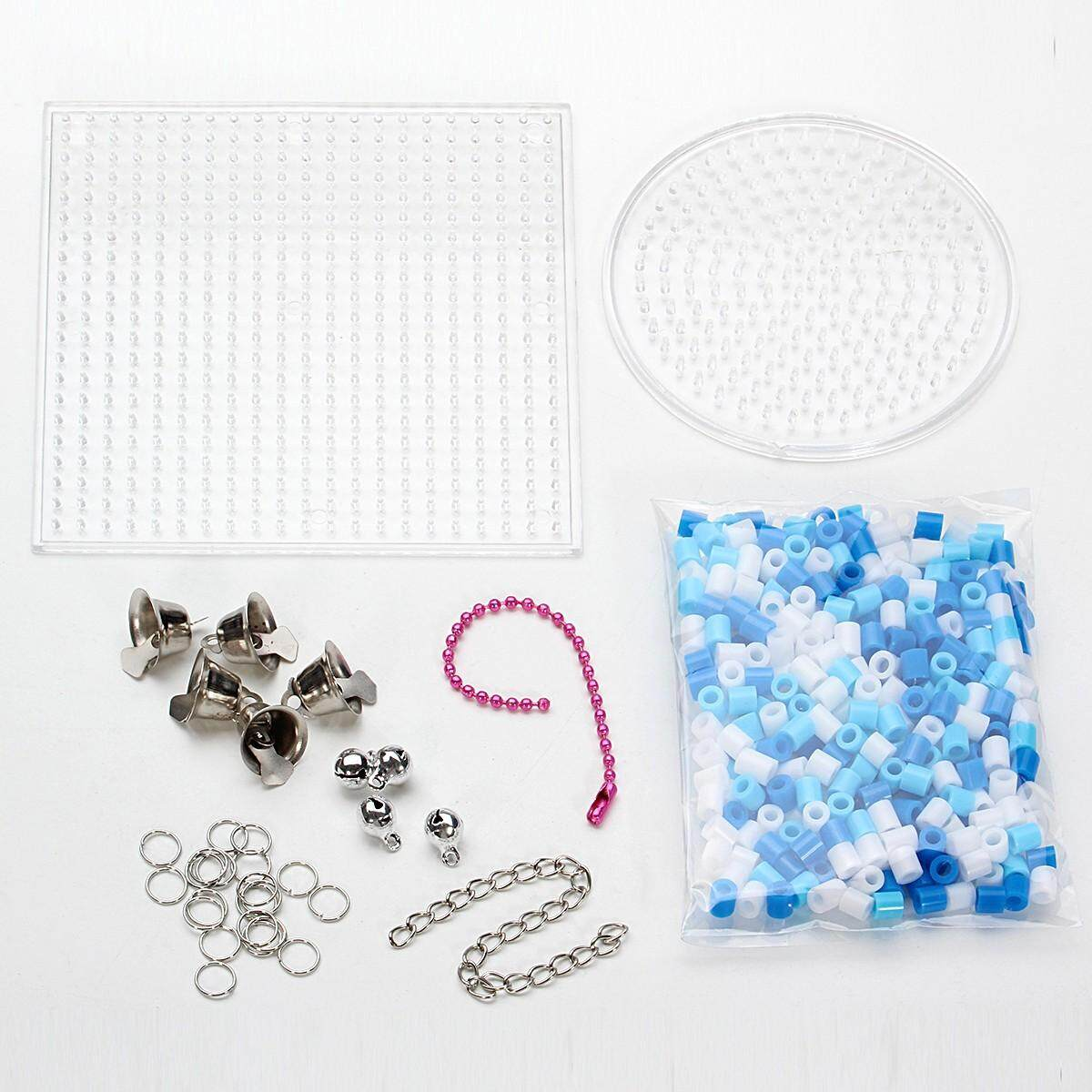 Diy Dream Catcher Windbell With 5mm Fuse Beads Toy For Over 3 Years Children Blue And White By Glimmer.