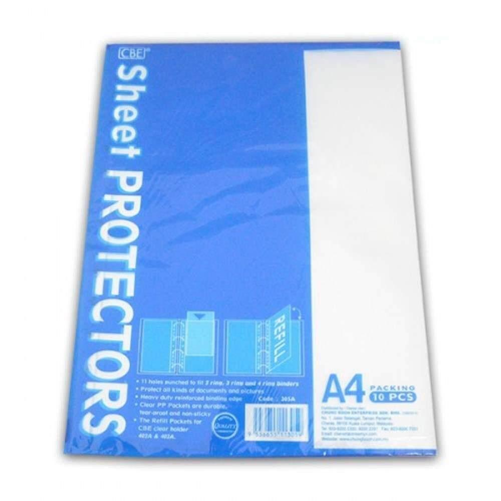CBE Sheet Protector 305A A4 (10\'s) - Item No: B10-62) A1R1B104
