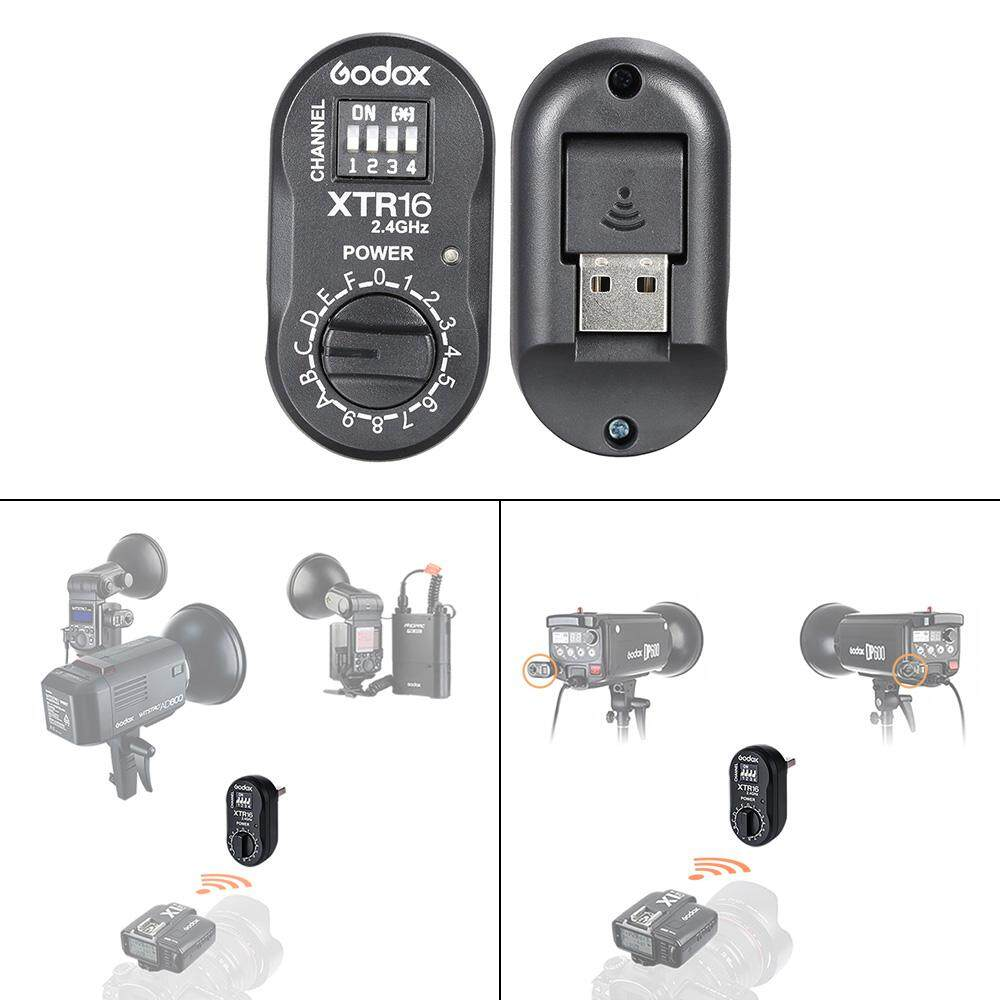 Where To Shop For Godox Xtr 16 2 4G Wireless X System Remote Control Flash Receiver For X1C X1N Xt 16 Transmitter Trigger Wistro Ad360 De Qt Dp Qs Gs Gt Series Intl