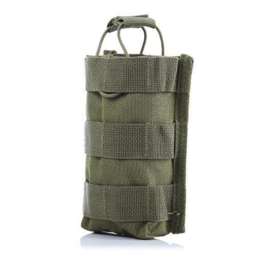 M4 OUTDOOR HIKING CAMPING MOLLE WAIST PACK INTERPHONE CASE (ARMY GREEN)