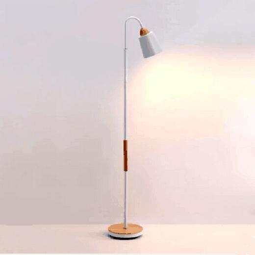 Led E27 Nordic Iron Wood Minimalism LED Lamp LED Light LED Floor Lamp Floor Light for Foyer Dinning Room Bedroom Store - intl
